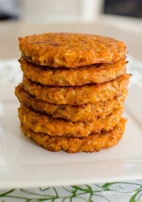 Slimming Eats Risotto Patties - Gluten Free, Vegetarian, Slimming World and Weight Watchers friendly