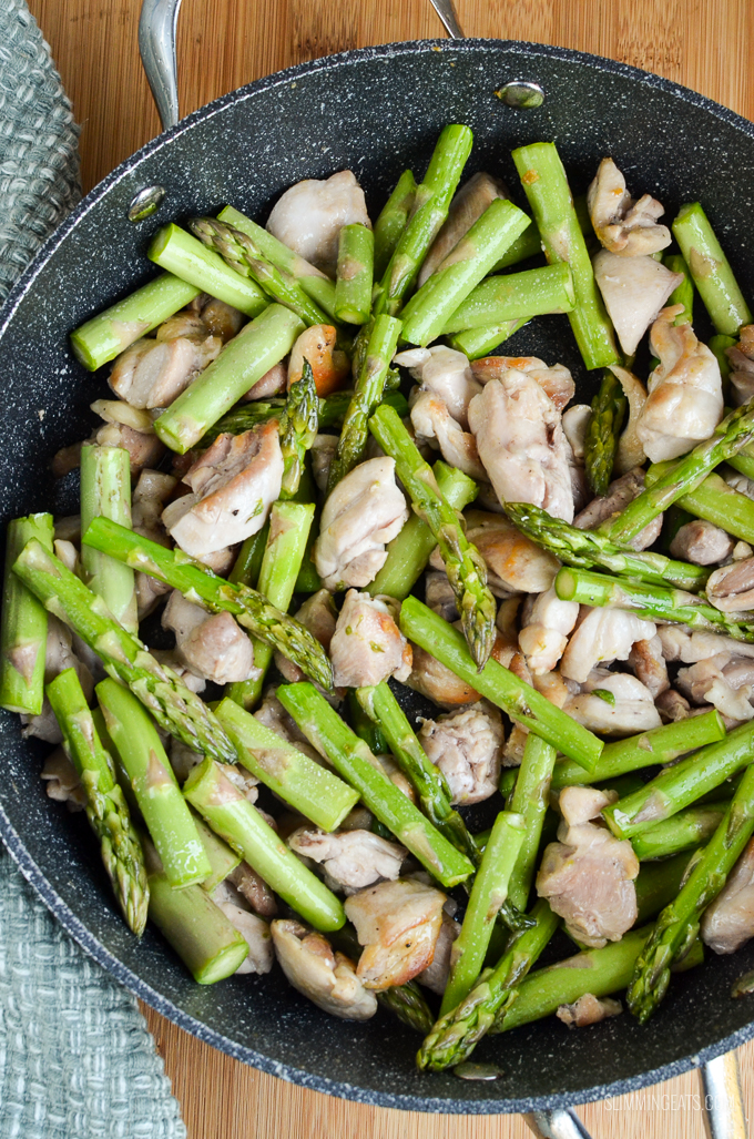 Slimming Eats Low Syn Chicken and Asparagus No Pastry Pie - gluten free, Slimming World and Weight Watchers friendly