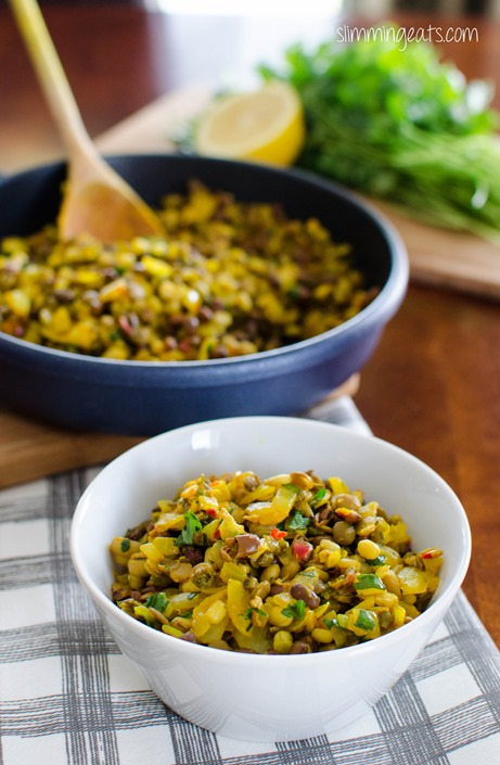 Ginger Spiced Sprouted Bean Trio - Dairy Free, Slimming World, Weight Watchers friendly