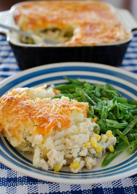Cheesy Topped Fish Pie - Gluten Free, Slimming World, Weight Watchers friendly