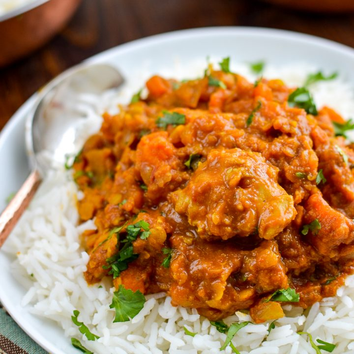 Syn Free Chicken, Sweet Potato and Lentil Curry (Stove Top and Instant Pot)