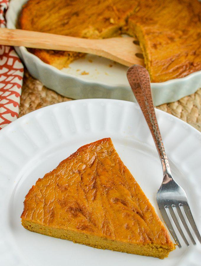Dairy Free Crustless Pumpkin Pie