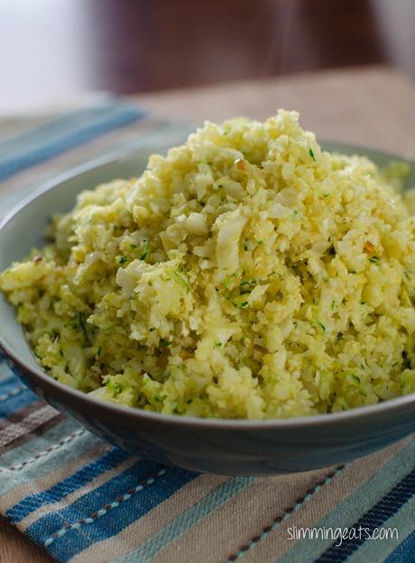 Cauliflower and Zucchini Rice - Gluten Free, Dairy Free, Slimming World, Weight Watchers, Paleo and Whole30 friendly