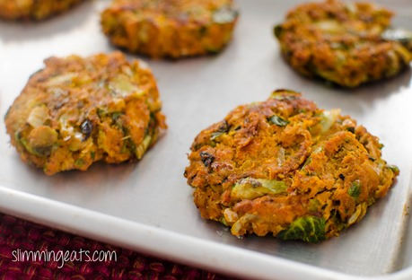Slimming Eats Salmon, Brussels and Squash Patties - Dairy Free, Gluten Free, Slimming World (SP), Weight Watchers, Paleo and Whole30 friendly