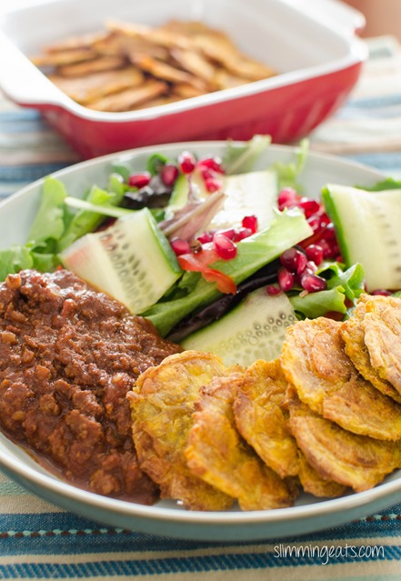 Baked Tostones - Dairy Free, Gluten Free, Slimming World, Weight Watchers, Paleo and Whole30 friendly