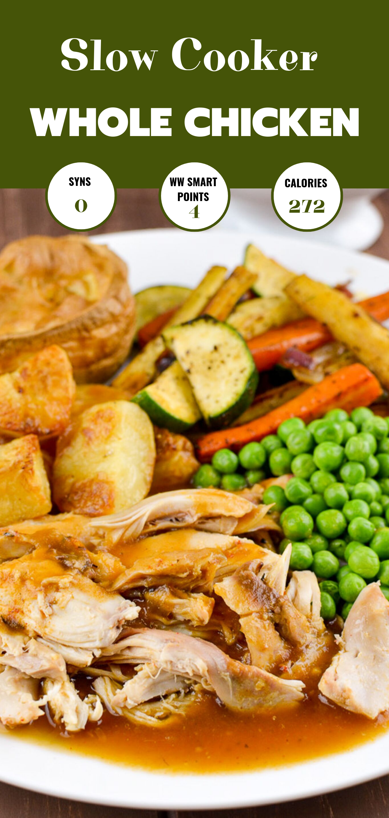 slow cooked chicken featured pin image