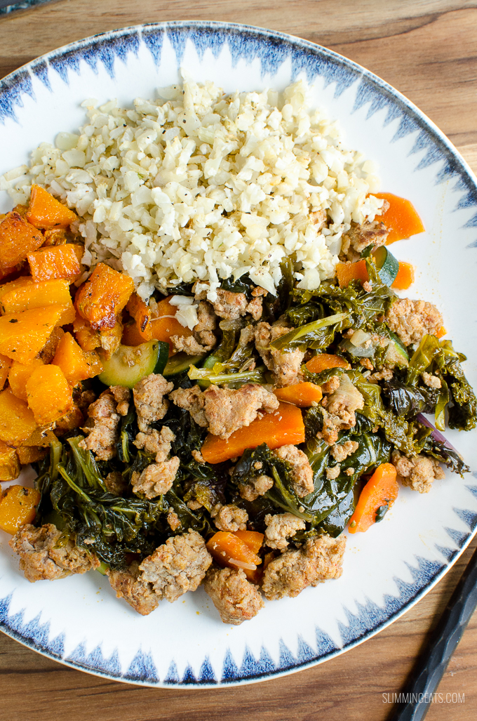 Slimming Eats Pork and Collard Greens - gluten free, dairy free, paleo, Slimming World and Weight Watchers friendly