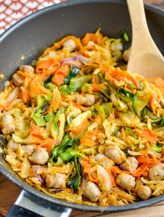 Low Syn Spicy Sausage and Veggies | Slimming World