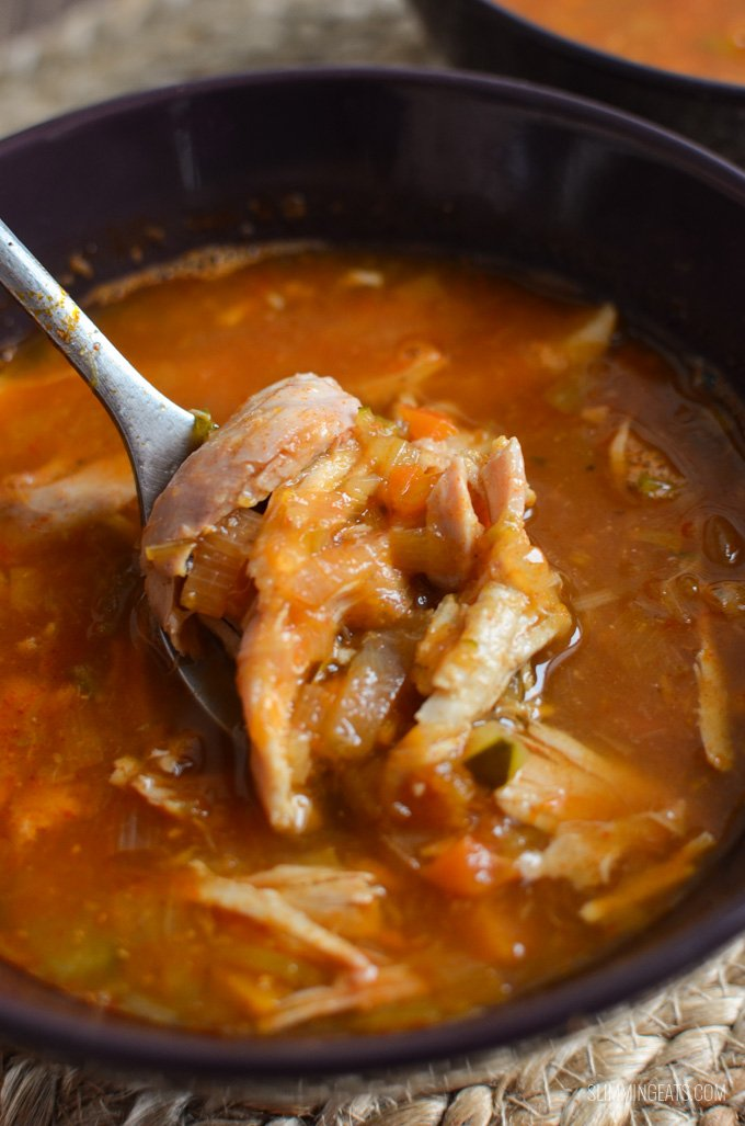 Slimming Eats Syn Free Chicken and Vegetable Soup - gluten free, dairy free, paleo, whole30, Instant Pot, Slimming World and Weight Watchers friendly