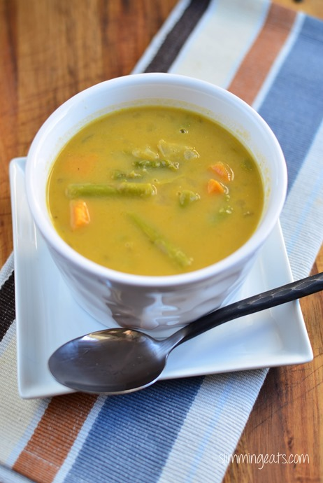 Asparagus and Sweet Potato Soup - Gluten Free, Dairy Free, Whole30, Paleo, Slimming World and Weight Watchers friendly