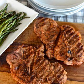 Grilled BBQ Pork Chops