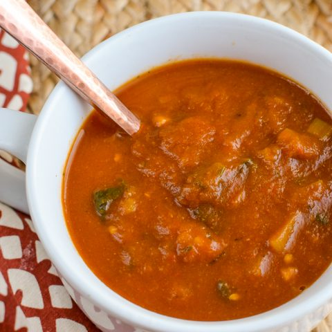Spicy Eggplant and Tomato Soup