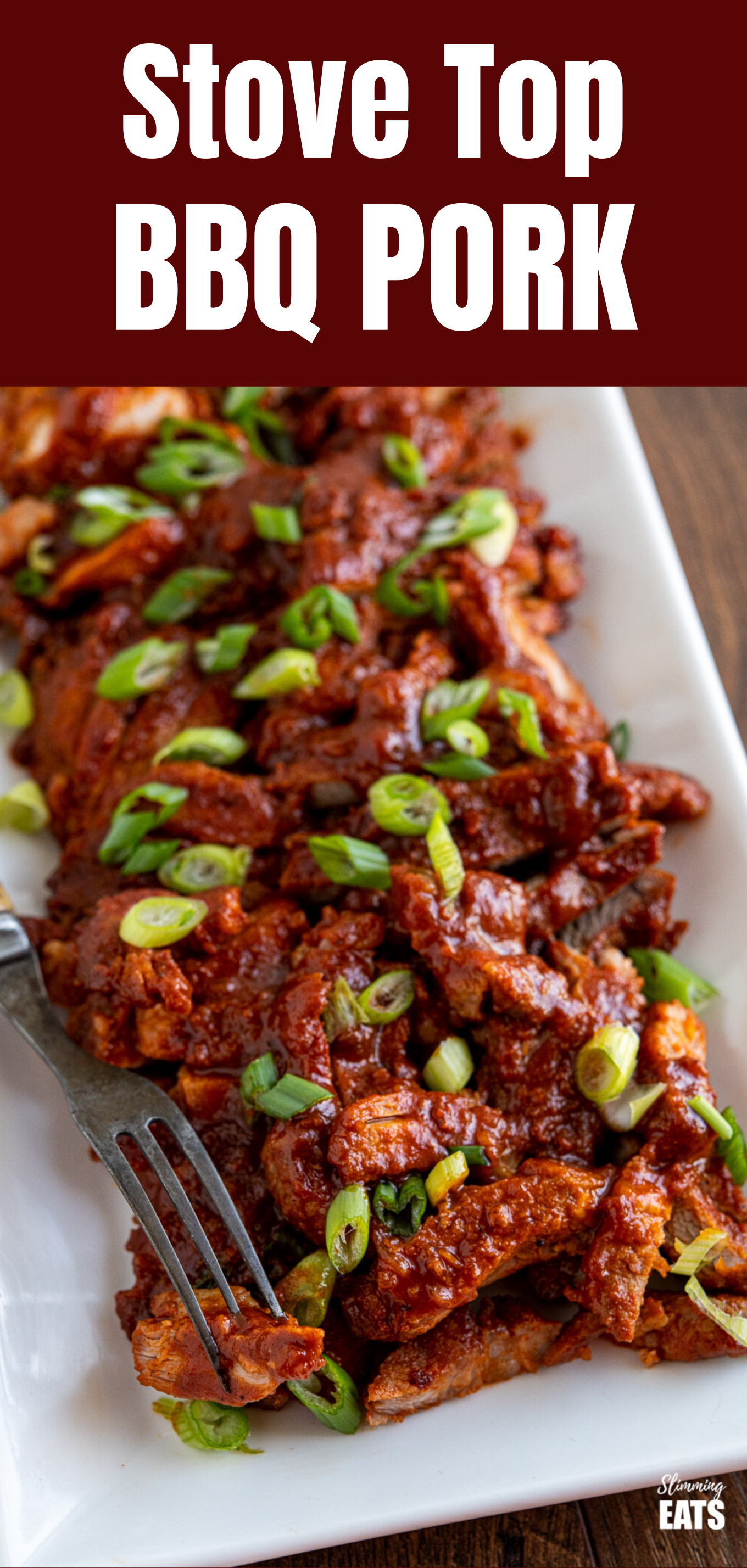 stove top bbq pork featured pin image