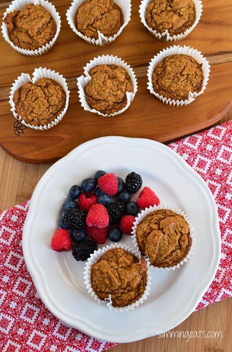 Slimming Eats Cinnamon Sweet Potato Oatmeal Muffins - gluten free, dairy free, Slimming World and Weight Watchers friendly