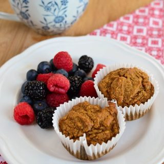 Cinnamon Sweet Potato Oatmeal Muffins