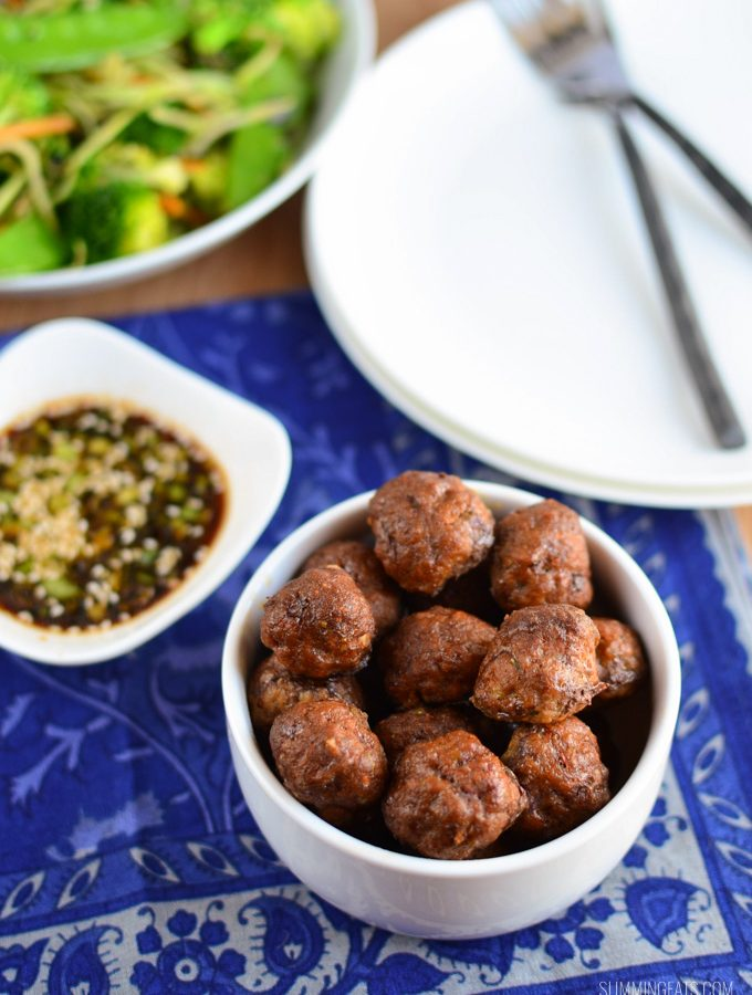 Hidden Vegetable Beef Meatballs with Dipping Sauce