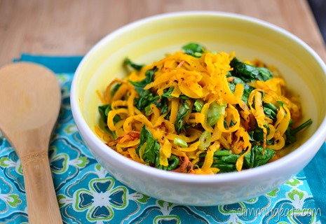 Slimming Eats Oven Baked Butternut Squash Noodles - Gluten Free, Dairy Free, Whole30, paleo, vegetarian, Slimming World (SP) and Weight Watchers friendly
