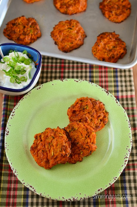 Slimming Eats Potato and Vegetable Fritters - Gluten Free, Slimming World, Vegetarian, Paleo and Weight Watchers friendly