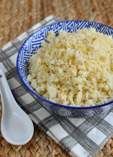 Slimming Eats Roasted Cauliflower Rice - Gluten Free, Dairy Free, Whole30, Paleo, Slimming World (SP), Vegetarian and Weight Watchers friendly