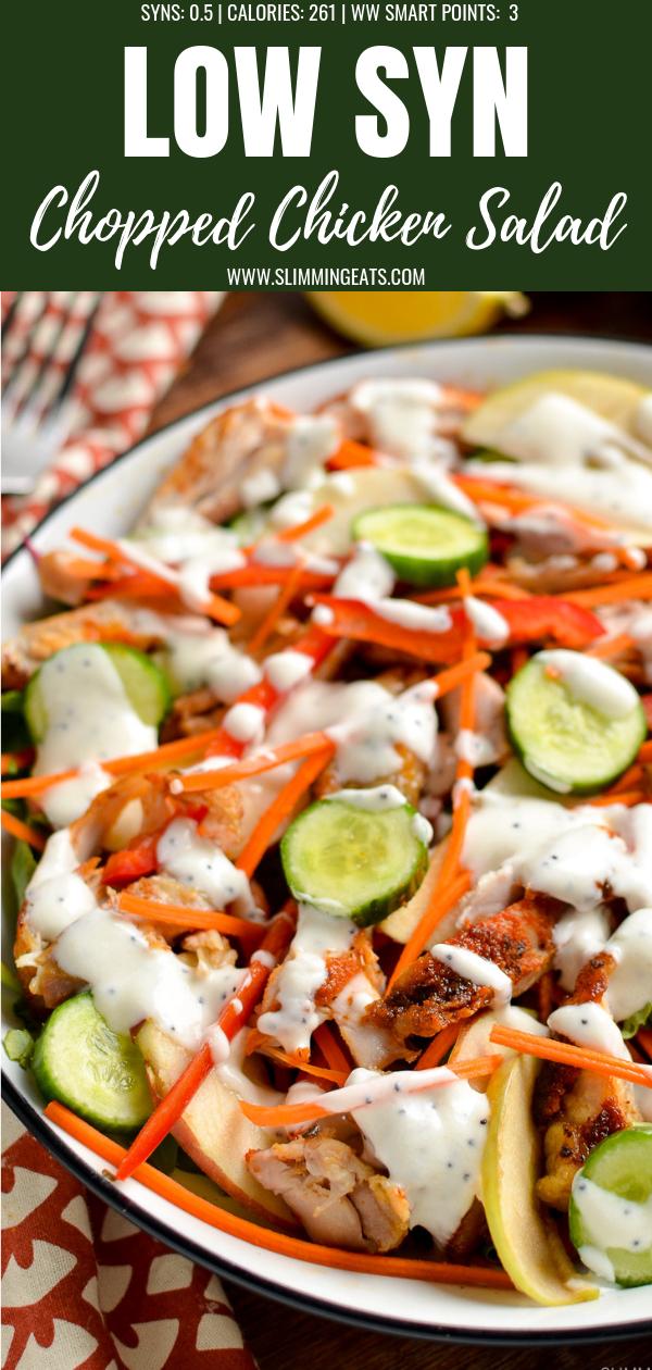 chopped chicken salad pin image