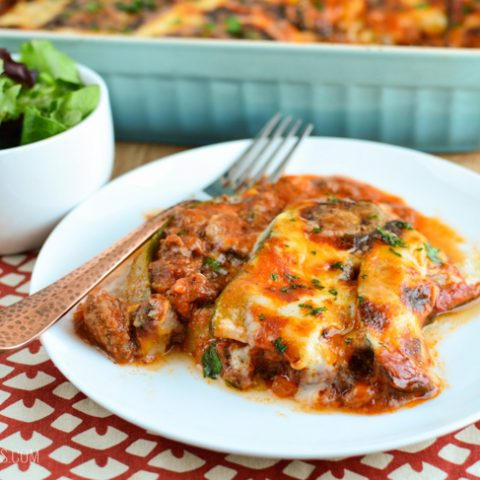 Low Carb Beef Zucchini Lasagne