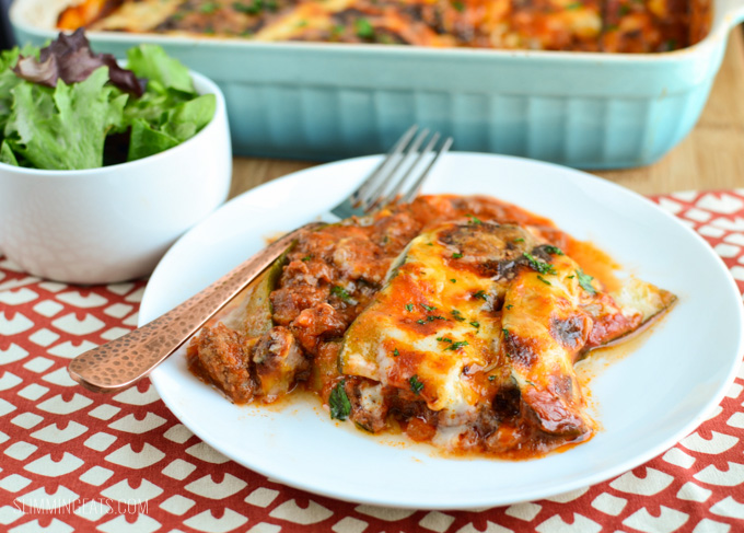 Slimming Eats Beef Zucchini Lasagne - gluten free, Paleo, Slimming World, SP, Vegetarian and Weight Watchers friendly