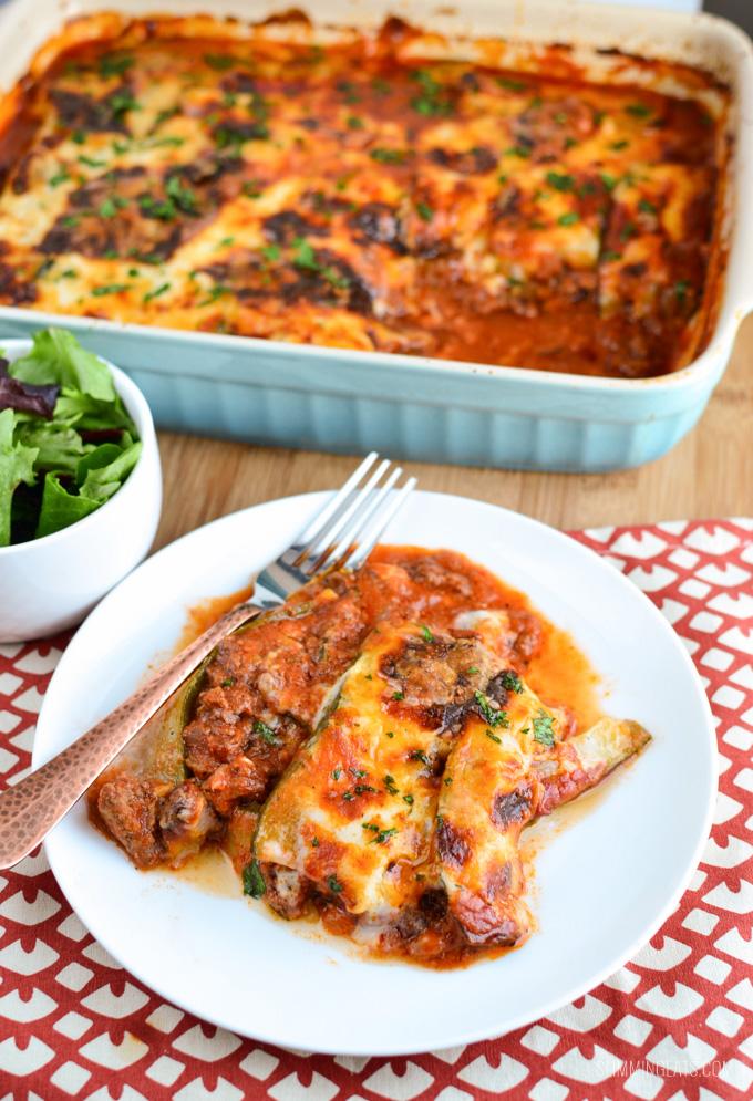Slimming Eats Beef Zucchini Lasagne - gluten free, Paleo, Slimming World, SP, Vegetarian and Weight Watchers friendly