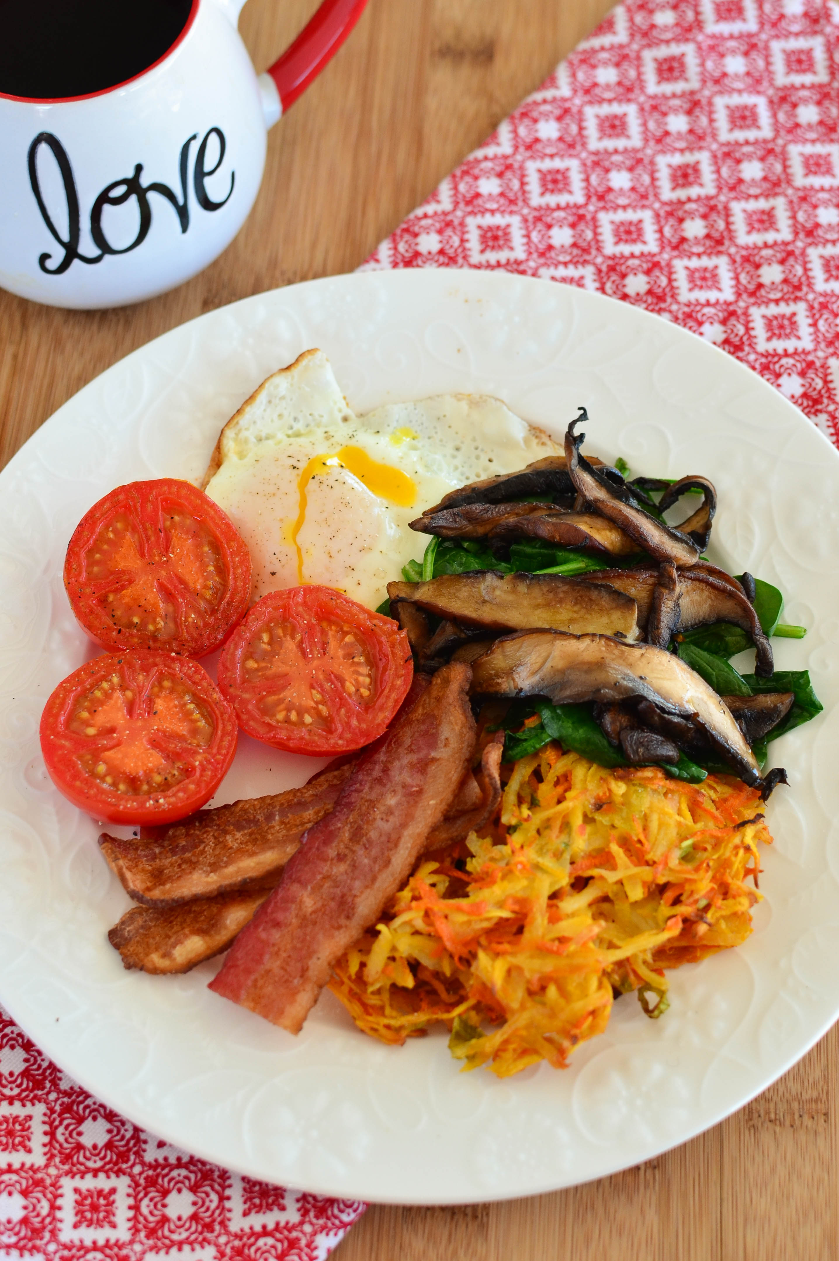 Slimming Eats - Carrot, Parsnip and Potato Hash - gluten free, dairy free, whole30, paleo, vegetarian, Slimming World and Weight Watchers friendly
