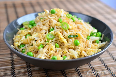 Slimming Eats Egg Fried Rice - Gluten Free, Dairy Free, Vegetarian, Slimming World and Weight Watchers friendly