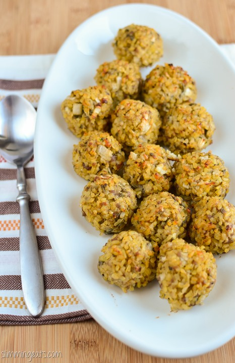 Slimming Eats Bulgur Wheat Sage and Onion Stuffing - dairy free, Slimming World and Weight Watchers friendly