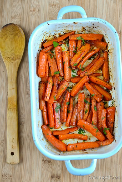 Slimming Eats Maple Glazed Carrots - gluten free, dairy free, vegetarian, Slimming World (SP) and Weight Watchers friendly