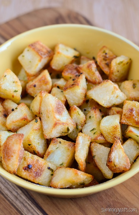 Slimming Eats Garlic and Herb Roast Potatoes - gluten free, dairy free, vegetarian, whole30, Slimming World and Weight Watchers friendly