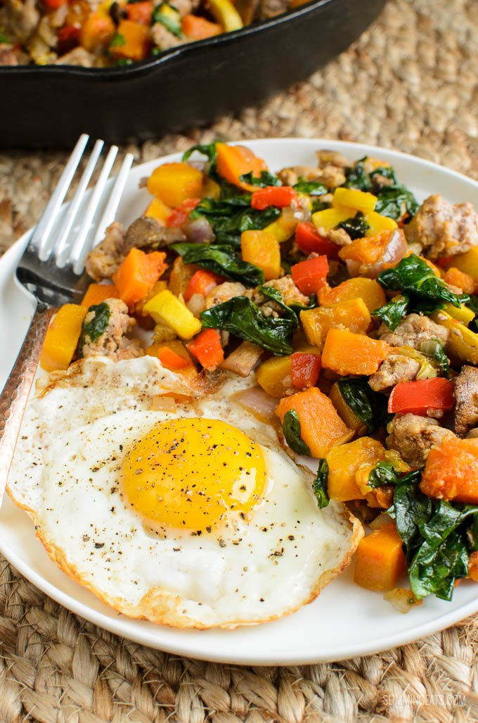 Slimming Eats Breakfast Hash - gluten free, dairy free, paleo, vegetarian, Whole30, Slimming World and Weight Watchers friendly
