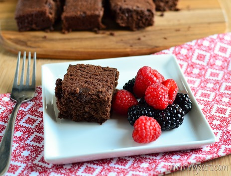 Slimming Eats Ghirardelli Chocolate Brownie - Slimming World (SP) and Weight Watchers friendly