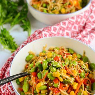 Edamame Noodle Salad Bowl