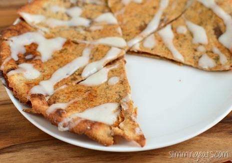 Slimming Eats Cinnamon Roll Slic - vegetarian, Slimmng World (SP) and Weight Watchers friendly