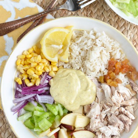 Low Syn Curried Chicken Rice Bowl