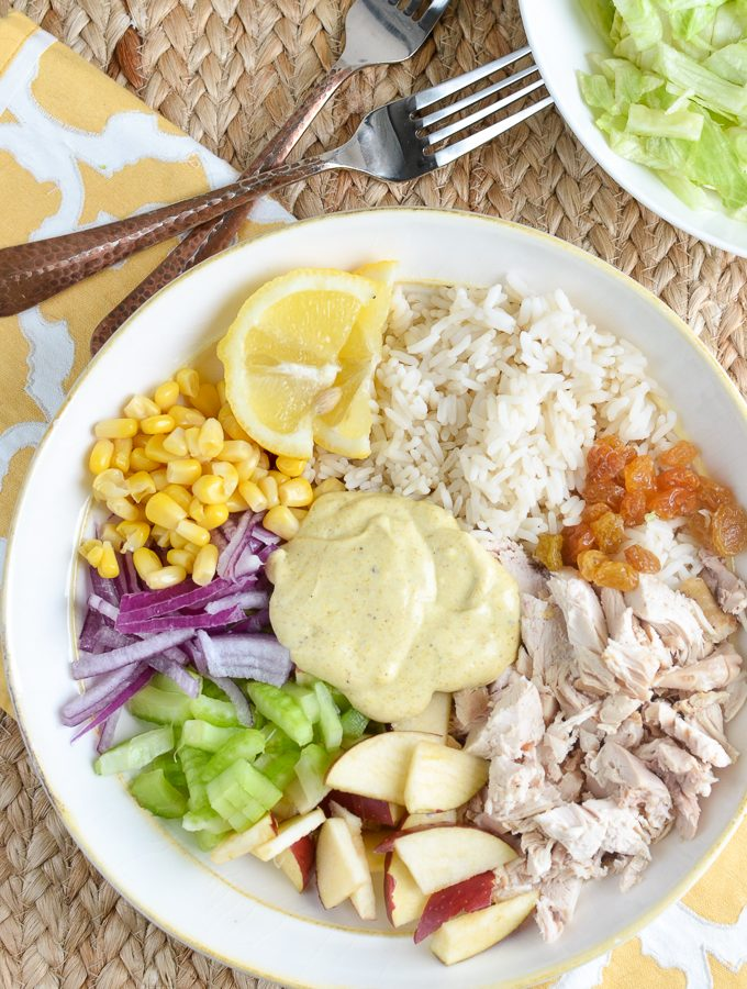 Low Syn Curried Chicken Rice Salad Bowl