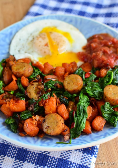 Slimming Eats Actifry Breakfast Hash - gluten free, dairy free, paleo, Whole30, Slimming World and Weight Watchers friendly