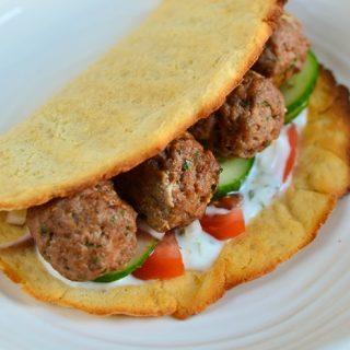 Lamb Kofta with Sweet Potato Flatbread