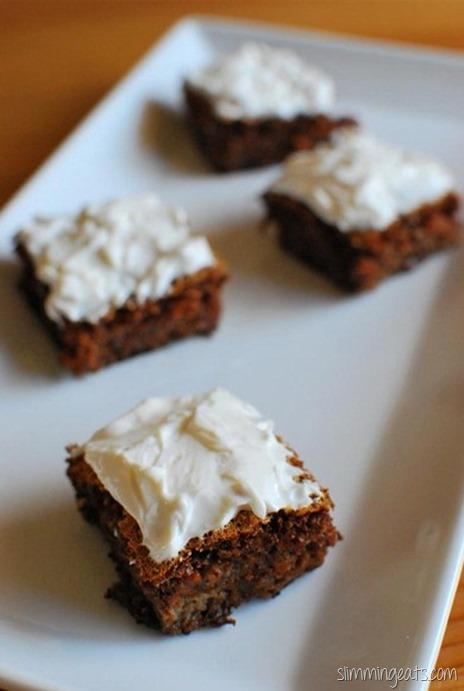 Slimming Eats Mini Carrot Cake Bites - Vegetarian, Slimming World (SP) and Weight Watchers friendly