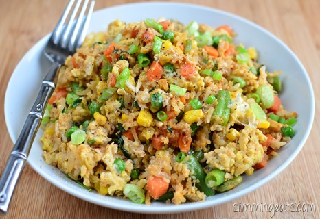 Slimming Eats Crab and Chilli Fried Rice - gluten free, dairy free, Slimming World and Weight Watchers friendly