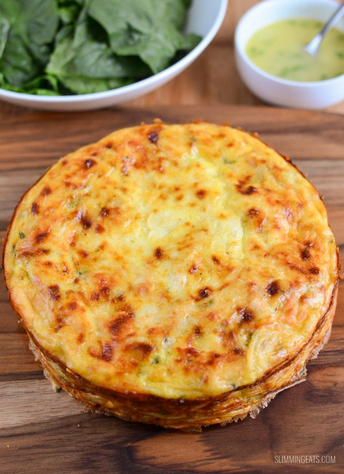 Baked Carbonara Frittata | Slimming Eats - Slimming World ...