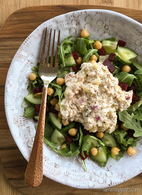 Slimming Eats Tuna Mayo Salad - gluten free, Slimming World (SP) and Weight Watchers friendly