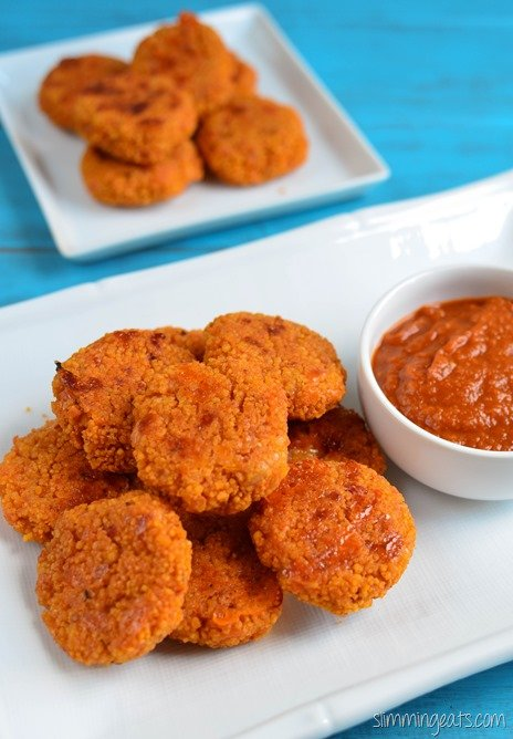 Slimming Eats Cheesy Couscous Bites - vegetarian, Slimming World and Weight Watchers friendly