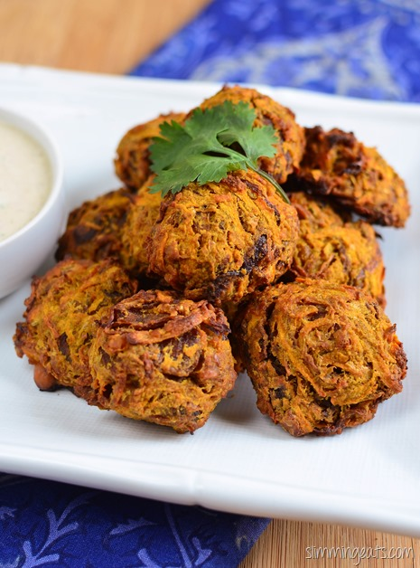 Syn Free Oven Baked Onion Bhaji