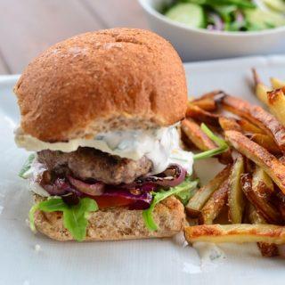 Greek Style Lamb Burgers