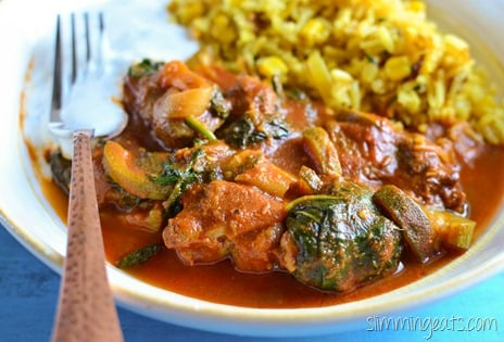 Slimming Eats Lamb and Vegetable Curry - dairy free, gluten free, paleo, Whole30, Slimming World (SP) and Weight Watchers friendly