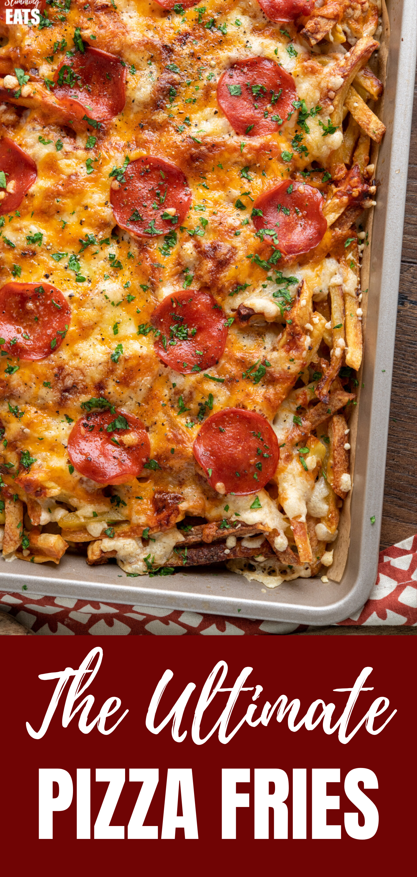 Cheesy Oven Baked Pizza Fries FEATURED PIN
