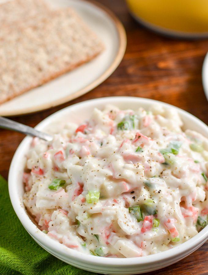 Low Syn Crab Stick Salad